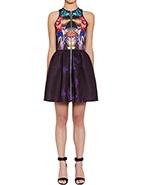 Nicholas Digi Floral Scuba Zip Front Dress #davidjones #racewear #nicholas #autumnwinter2013