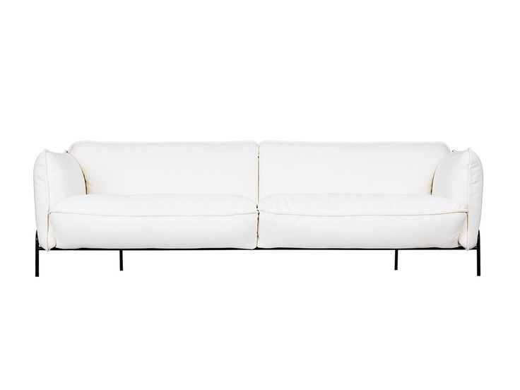 Claesson Koivisto Rune's Continental Sofa made for Swedese sits on a black steel base. It's $4,550 at Finnish Design Shop.