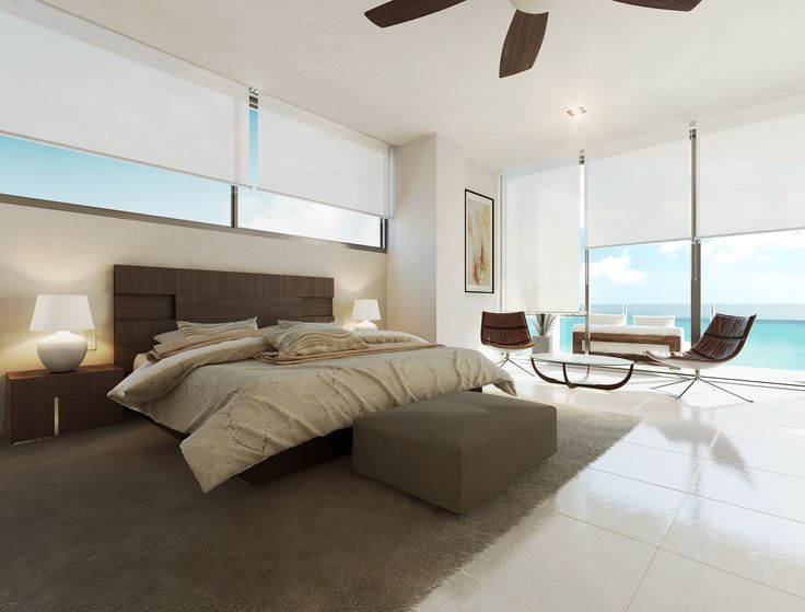 Habitación - Recámara - Bedrooms - Rooms - Departamento playa - EVA3D