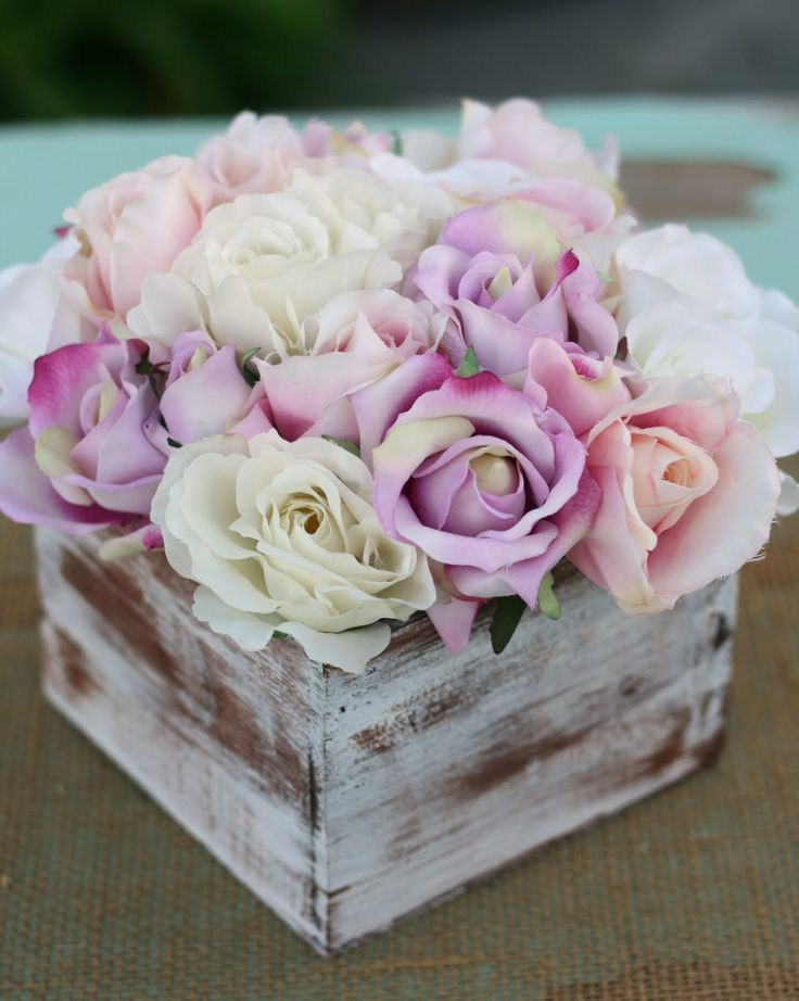 shabby chic flower arrangements | ... : Shabby Chic Rustic Flower Bouquet Wedding Centerpiece Arrangement