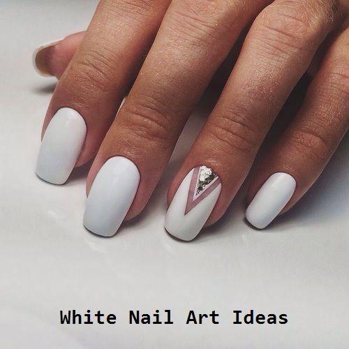 30+ idées de design pour des ongles blancs simples et tendance 3   – Great White Nail Art Ideas