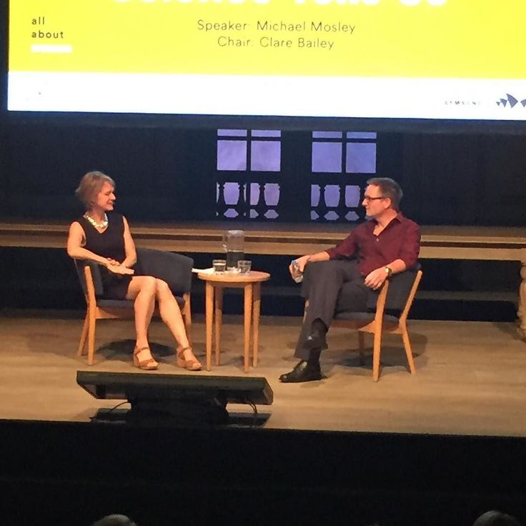 Dr Michael Mosley and his wife Dr Clare Bailey talking ...