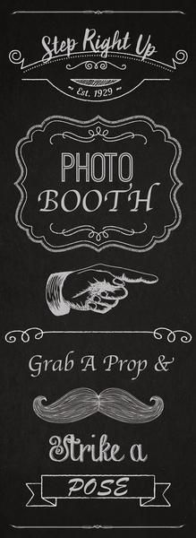 PMRUBS2  Photo Booth Sign  Retractable Banner Stand Wedding Sign Prop