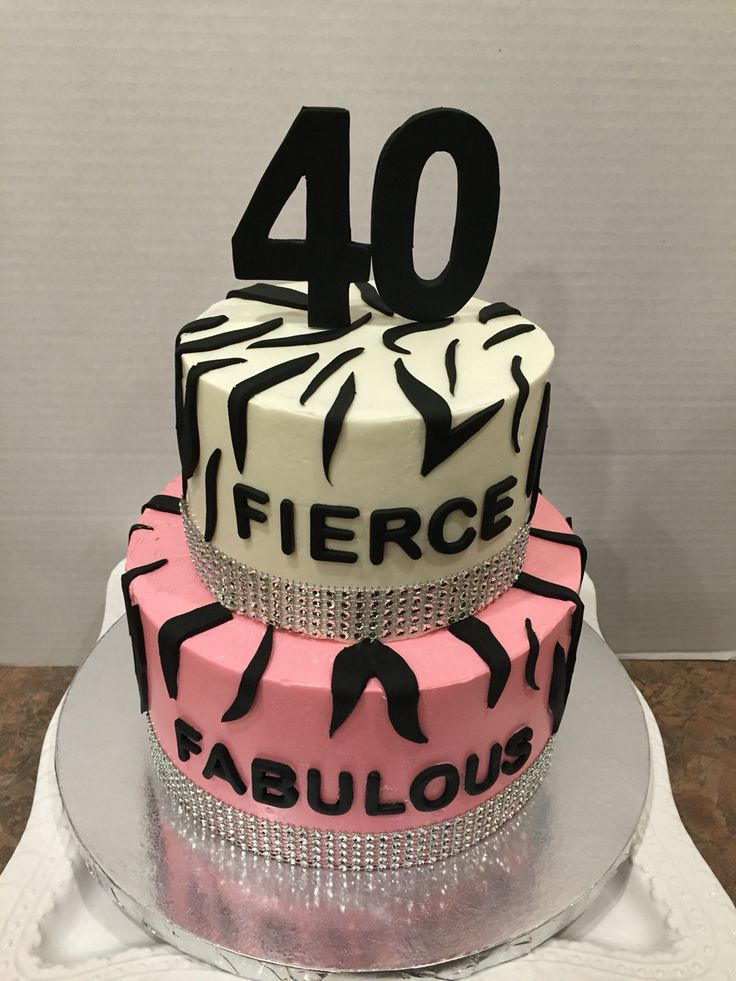 40th Birthday Fierce Fabulous And Forty 40th Bday In