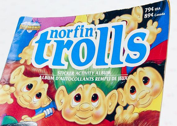 A collectible Norfin Troll Sticker Activity Book from 1992, made by The Troll Co. It's in nice shape, no marks or tears and just average surface wear. There are only 5 stickers placed in the book in their proper places. ***** We're always on the hunt for unique and unusual