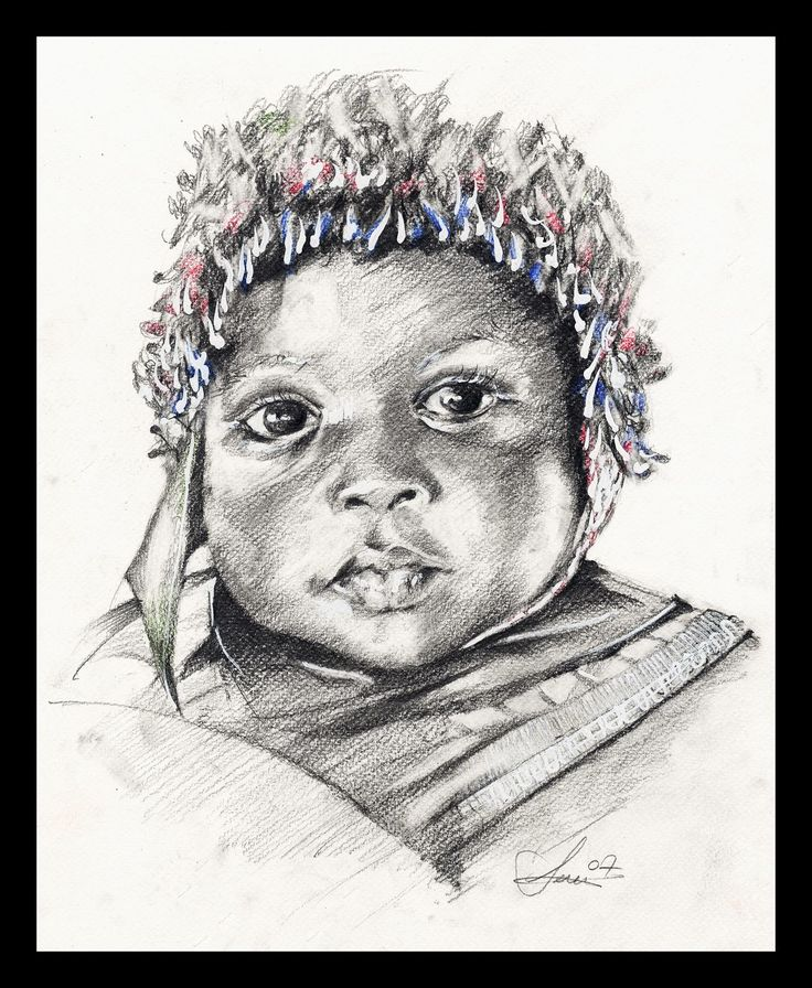 Portrait of an African baby © Caleidoscopio Art Project
