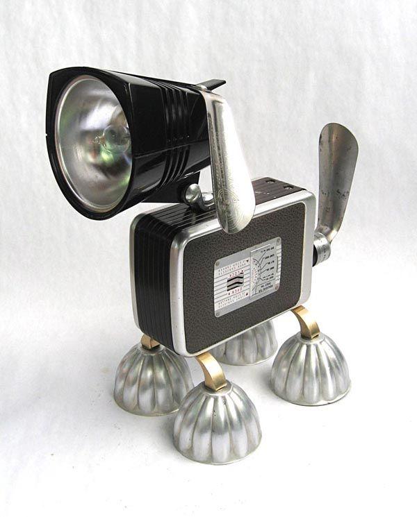 Found Art Assemblage Robot by Brian Marshall |Gadgetsin