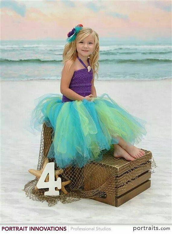Etsy の Little Mermaid Inspired Tutu Dress by WindmillsandBubbles