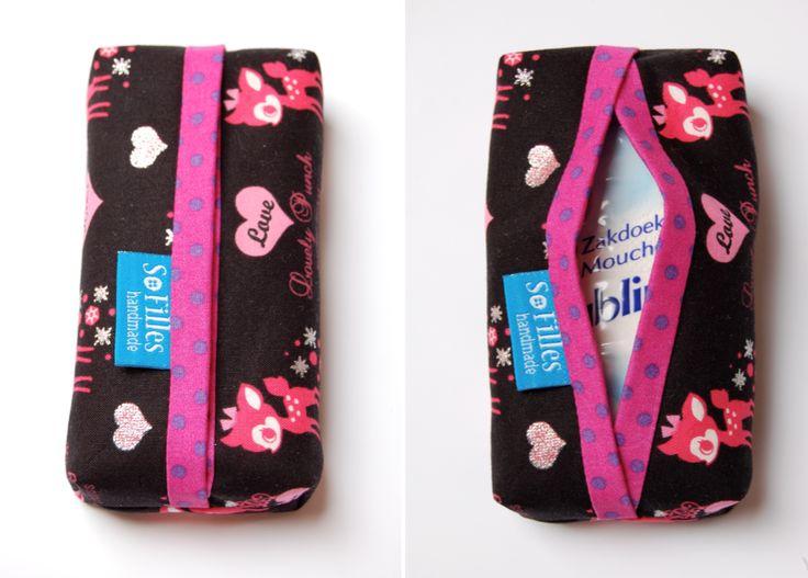 Hoesje om rond papierenzakdoekjes te doen = tutorial van SoFilles: Zo doen we het zelf