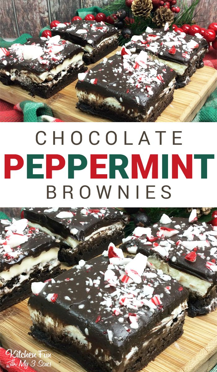 Chocolate Peppermint Brownies - a perfect Christmas recipe everyone will love.