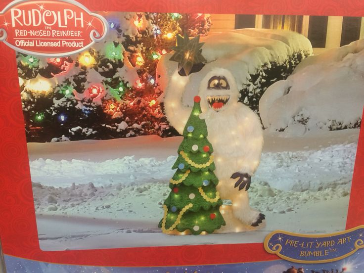 Rudolph abominable snow man light up display