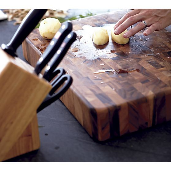 End Grain Board in Cutting Boards | Crate and Barrel