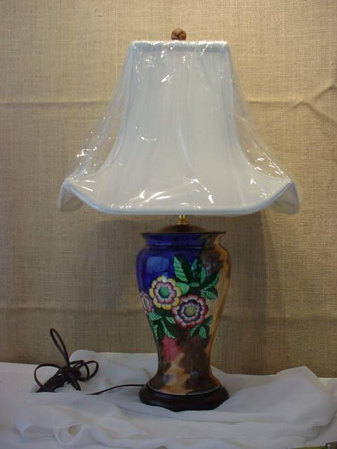 Antique Gaudy Moorcroft H K Tunstall Gaiety England Pottery Vase Lamp | eBay