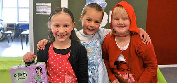 Book Week dress up as a character from a book -with students of Fadden Primary School