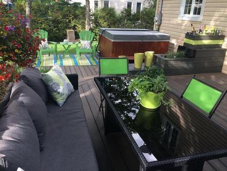 paysagement, design extérieur, terrasse, designer, design quebec