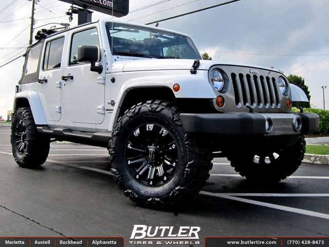 jeep wheels and tires | Jeep Wrangler with 18in Monster Energy Wheels - Butler Tire in Atlanta ...