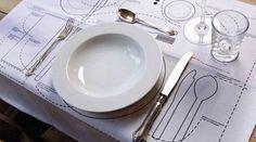Vous êtes un peu perdu pour mettre la table ? Pas de panique. Voici un super guide pour apprendre à positionner vos couverts correctement. Comment ? Il suffit de suivre l'image :   Àch