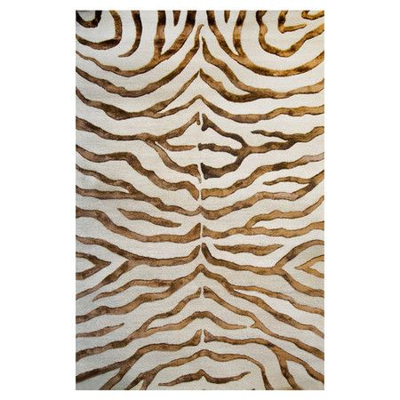 Serengeti 4' x 6' Rug at Joss and MainSilk Rugs, Joss And Maine, Rugconstruct Materials, Handtufted Wool, Living Room, Art Silk, Hands Tufted Wool, Zebras Prints Motif, Zebras Strips Motif