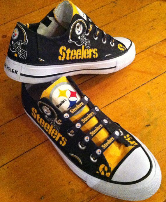 Custom Steelers shoes NFL NBA MLB Ncaa mlb nhl or by SportsGirl84, $45.00