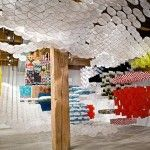 Gas Giant: An Enormous Suspended Kite Installation by Jacob Hashimoto