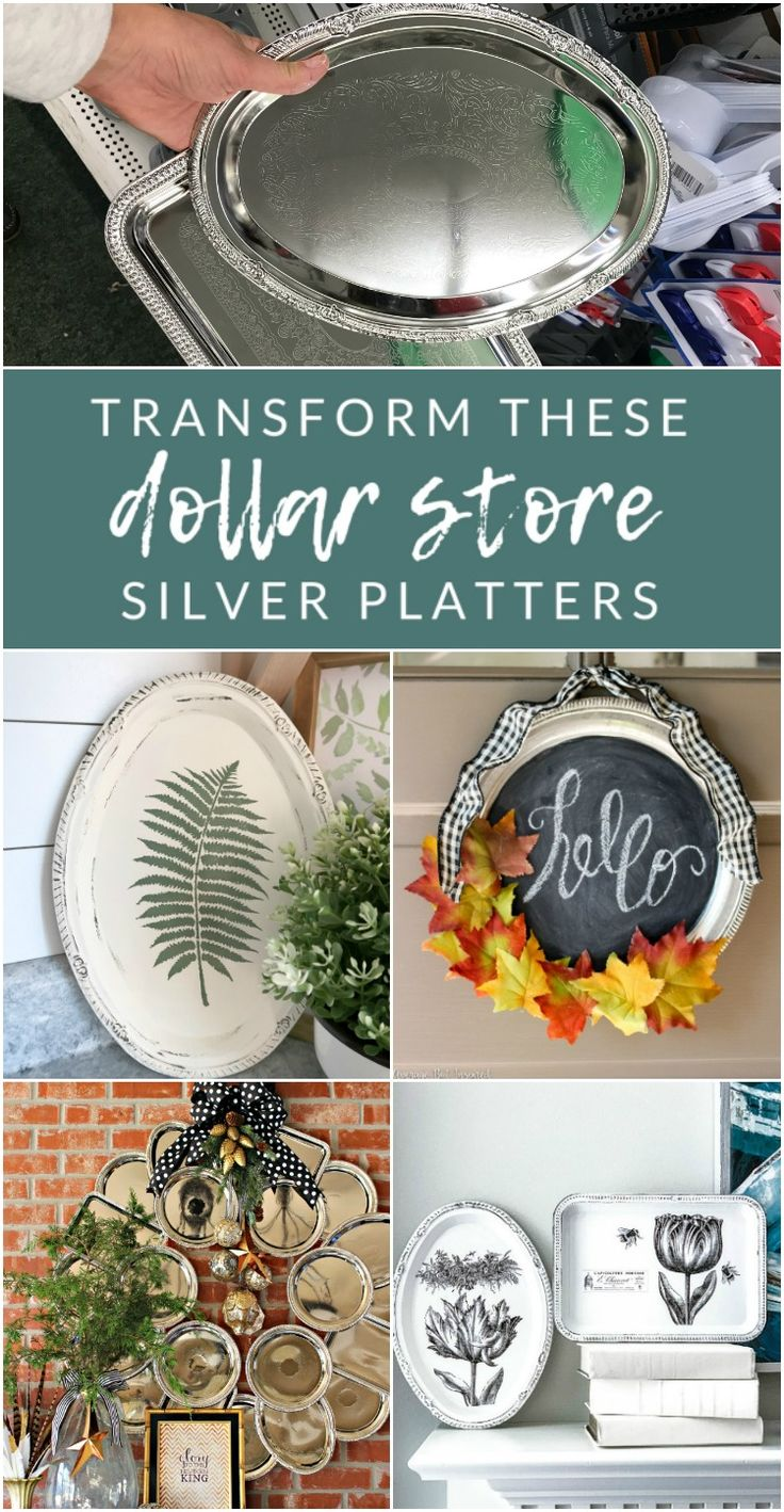 5 Dollar Store Tray DIYs, plastic serving platter transformations