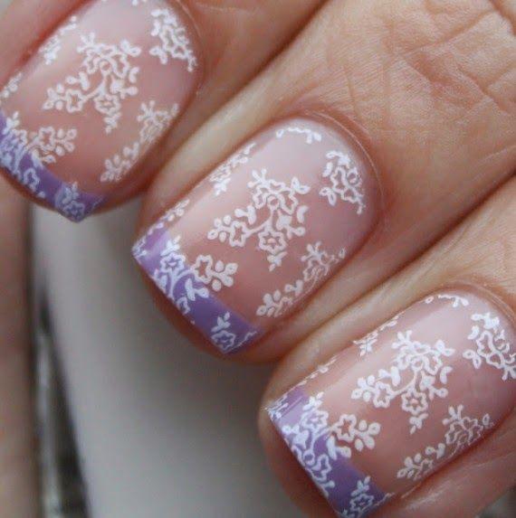 vintage wedding nails   Un lindo diseños de uñas para novias mas sencillo pero muy hermoso ...