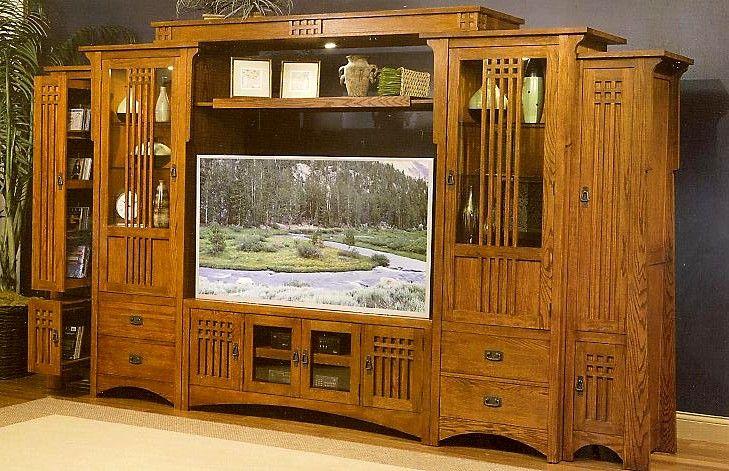 Wood Work Mission Style Entertainment Center Plans Pdf Plans