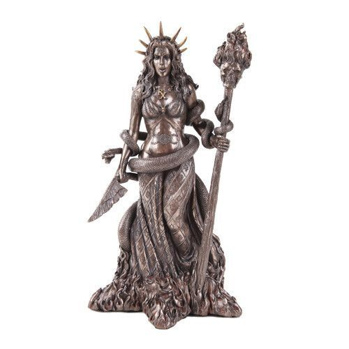 Hecate Goddess of Necromancy and Magick Bronze Statue ...