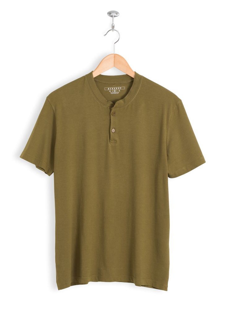 Regular Fit • Crew neckline •2button front henley placket • Short Sleeve • Turn-back sleeves and bottom hem • 100% Tanguis Cotton • Long Lasting • Stable Dying • Pre-Wash • Anti-Pilling