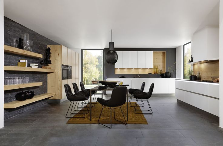 Moderne Küche / aus Eiche / lackiert - CLASSIC : LEGNO - Nolte Kuechen