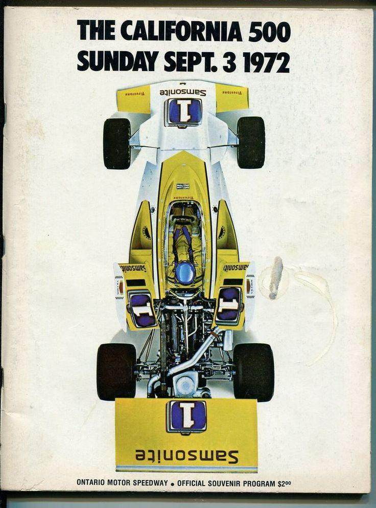 ontario motor speedway california 500 usac race program-9/3/1972-indy-good/vg from $45.22