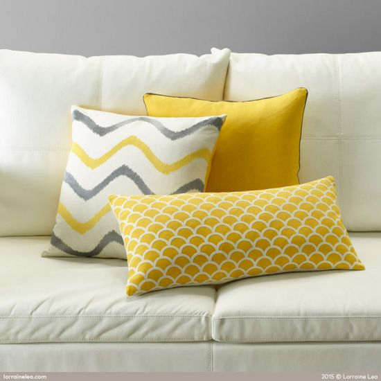Juicy colours like orange and yellow can create an energetic space that screams 'spring!' Adding a pop of colour can be fun, but don't go overboard. Carefully pick a few pieces that will convert your home from a winter wonderland into a fresh spring retreat. #yellow #home #cushions