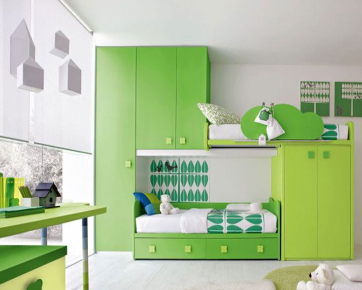 Kid Bedroom Green Bedroom Theme Color For Your Kids How To Determine the Bedroom Furniture Sets For Kids