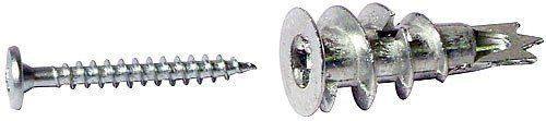 From 1.89:Hafele Plastplu Metal Rawlplug Self-drill Plasterboard Pack Of 10