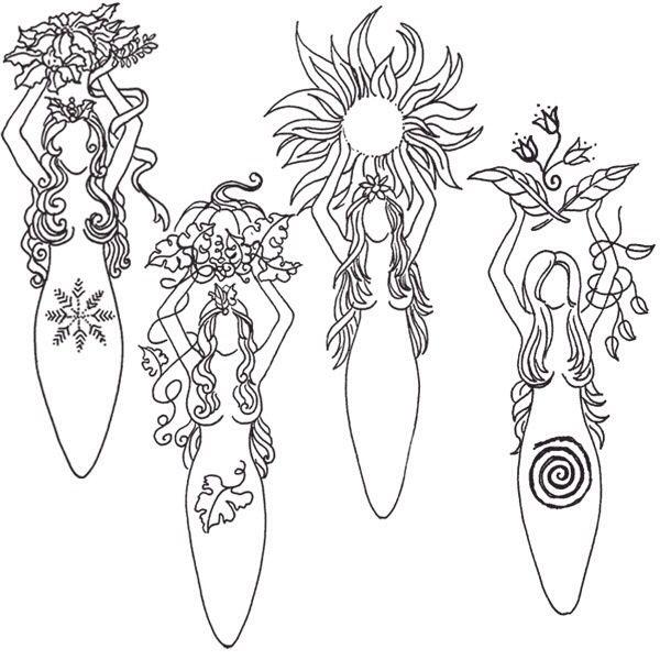 Goddess for each of the seasons
