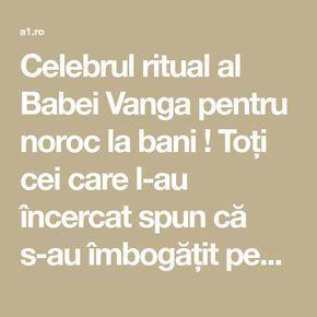 Celebrul ritual al Babei Vanga pentru noroc la bani ! Toți cei care l-au încercat spun că s-au îmbogățit peste noapte! | Lifestyle a1.ro