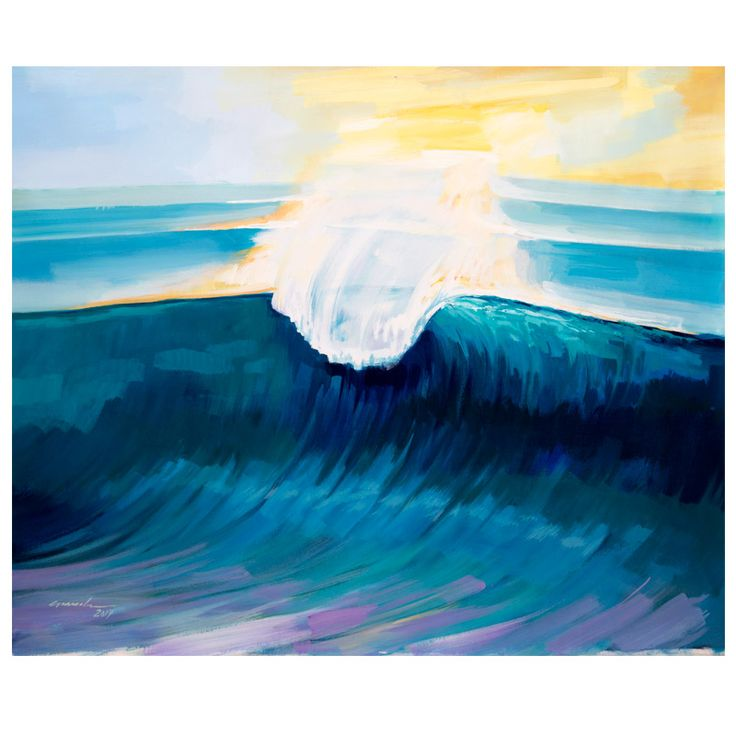 Surf Painting Nazare Acrylic On Canvas Big Size Surf