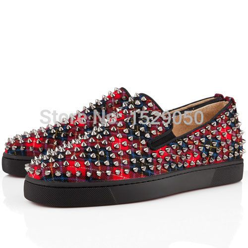 semelle rouge roller spikes hommes flat tartan chaussures rougechina mainland