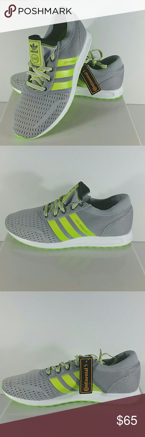Adidas Originals Los Angeles Trainer Size 11 Brand new Adidas Originals Los Angeles men's size 11. NWOB MSRP: $120   Adidas Originals Los Angeles Shoes Trainers COLOR: Grey/green/white (clear ONIX/Solar Grn/solar Yew) CONDITION: BRAND NEW NEVER BEEN WORN Adidas Shoes Sneakers