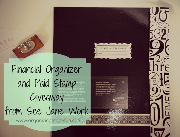 Financial Organizer giveaway from See Jane Work and Organizing Made Fun!Fun Site, Jane Work, Organic Giveaways, Declutter Organic, Products Giveaways, Cleaning Organic, Financial Organic, Organic Offices, Current Giveaways