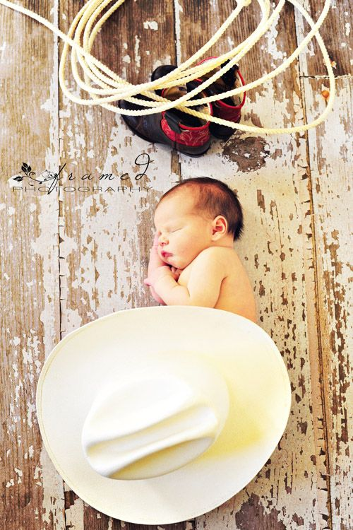love the cowboy theme. @Heidi Brandley Thorne, when you have a baby can I take pictures like this?!?!