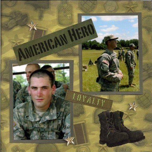 Army Scrapbook Page Layouts 66 Best Military Scrapbooking Pages