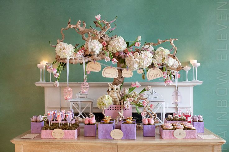 """owl themed baby shower... """"look whoos having a girl!"""""""