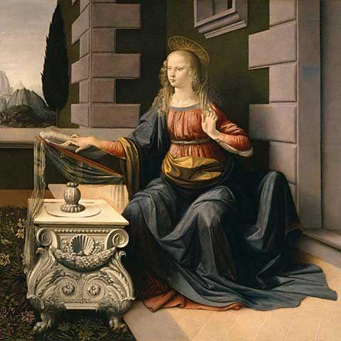 Leonardo da Vinci - Die Verkündigung - jetzt bestellen auf kunst-fuer-alle.de