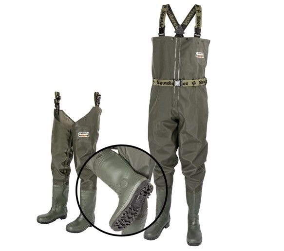 Granite PVC Waders  The Granite name makes a comeback, with new models to the Snowbee range for 2017  Manufactured from a durable, heavy-duty, hard wearing, re-enforced PVC laminate, which despite being tough as it gets, is also extremely soft, light and flexible, for added comfort. The outer PVC layer is laminated to a tough, woven nylon inner lining, making the material super-strong and almost rip-proof, whilst remaining lightweight.