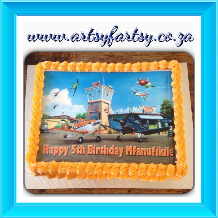 Edible Picture Disney Planes Cake