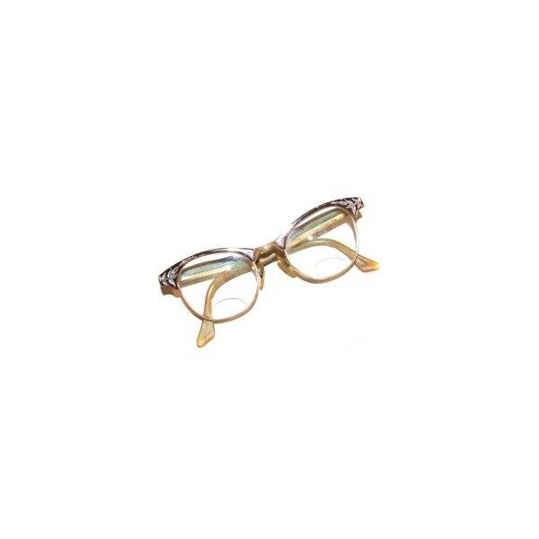 Vintage Cats Eye Glasses With Engraved Leaf Frames Bifocal Eyeglasses... (57 ILS) ❤ liked on Polyvore featuring accessories, eyewear, eyeglasses, glasses, sunglasses, fillers, cat glasses, engraved glasses, retro glasses and vintage glasses