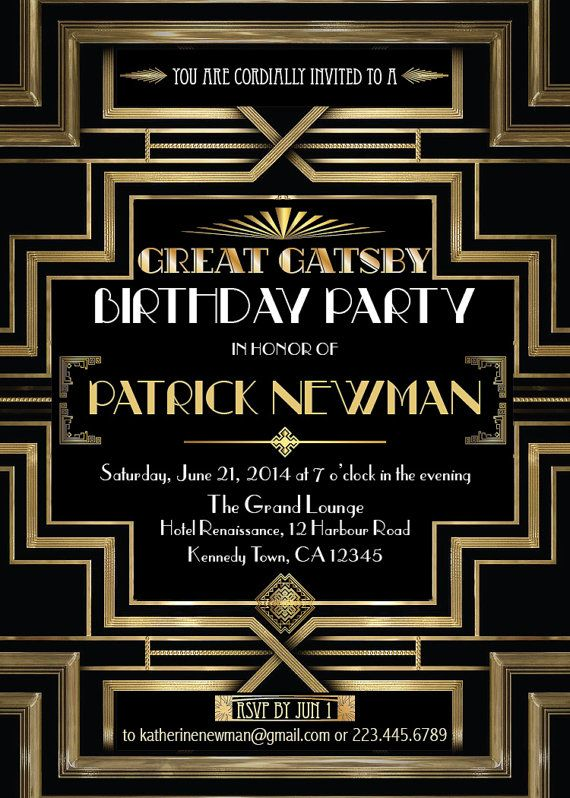 159 best images about Joes 40th Great Gatsby – Great Gatsby Party Invitation