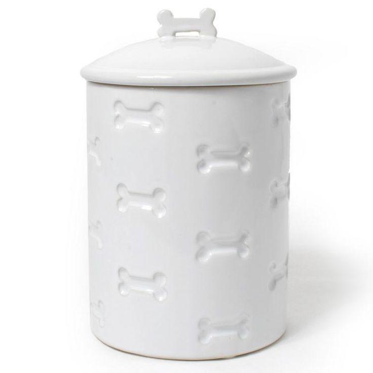 Bone Cut Out Ceramic Dog Treat Jar