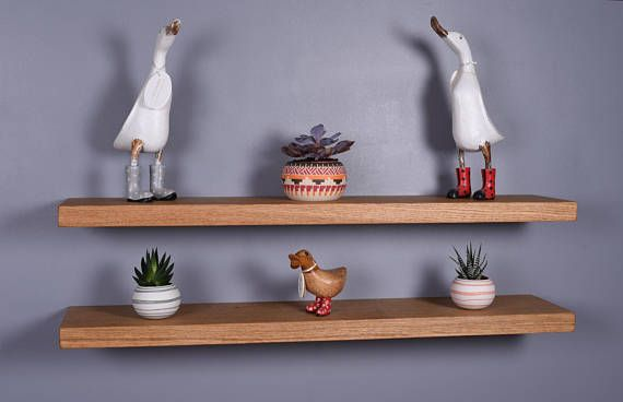 Chunky Solid Oak Floating Shelves  Various Length Shelves